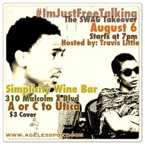 our monthly open mic at Simplicity wine bar in BEd Stuy